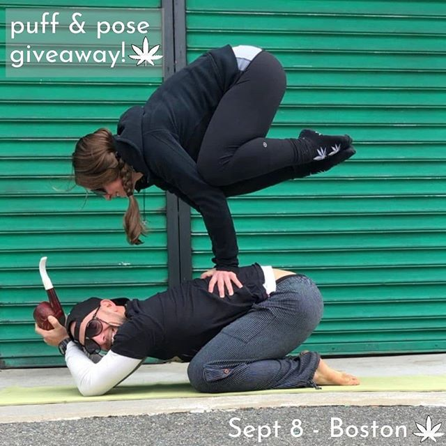 Time for another event giveaway!!! This time, I'm teaming up with @pilatesprince to give away a free entry to this Sunday's Puff & Pose Yoga, September 8th in downtown Boston, 11am - 1pm. I love mixing cannabis and yoga - it allows me to breathe deeper, move with more ease, and of course r e l a x 🙏 🌱 Class is accessible to all levels (even first time yogis :) 🌱 To Enter: - Like this post and tag 2 friends who you know love mixing cannabis + yoga 💚✌️ - Share this post to your feed or story (& tag me so I can count your entry!) 🌱 (Entries will be accepted until noon on Saturday 9/7. Please only enter if you can make it to the event!) 🌱 If you would like to just go ahead and reserve your spot - visit the link in my bio and use the code 'HKPUFFANDPOSE' for 20% off! 🌱  Hope to see you there & share a toke together ✌️💚