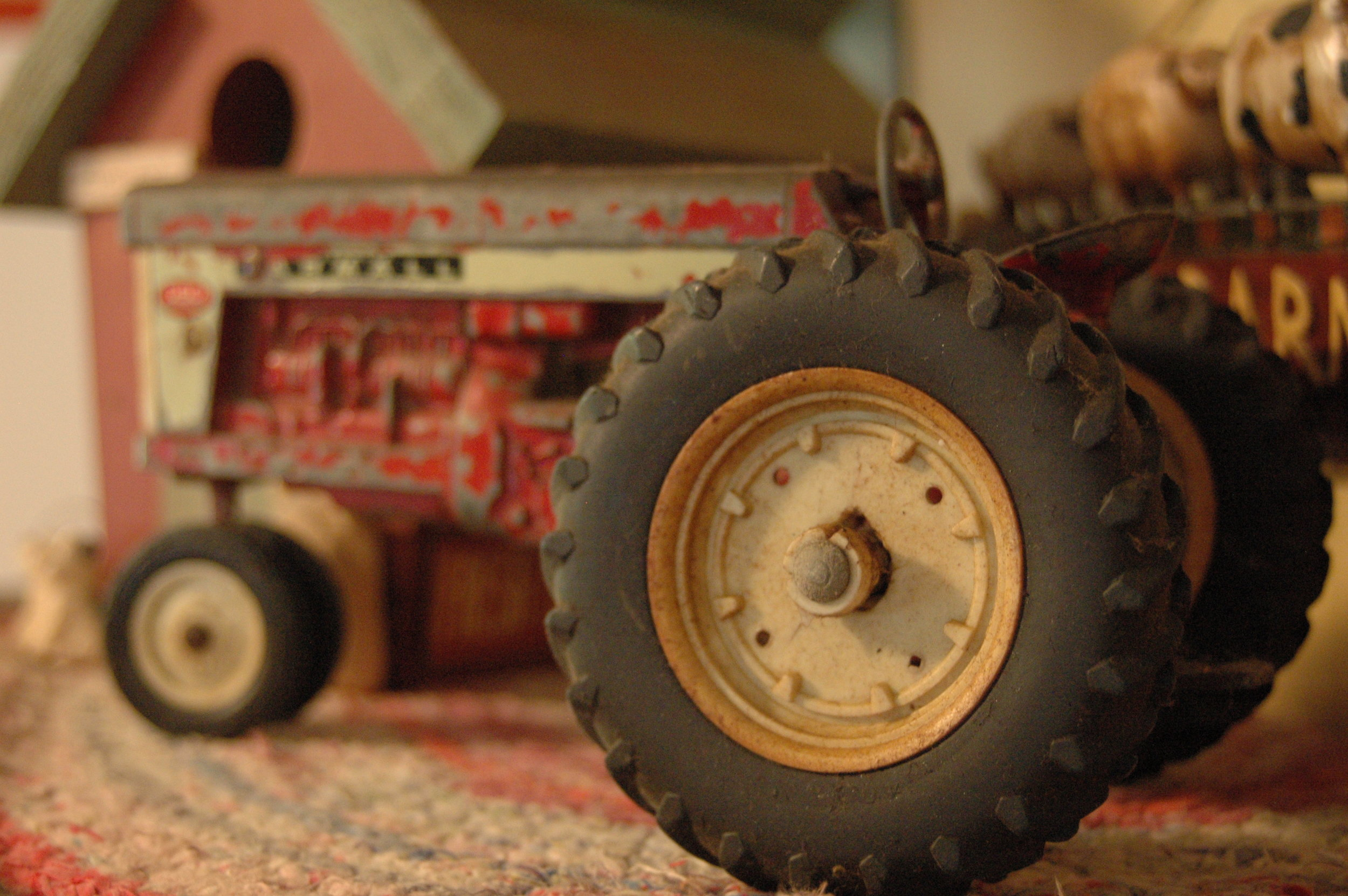 My husband's childhood tractor