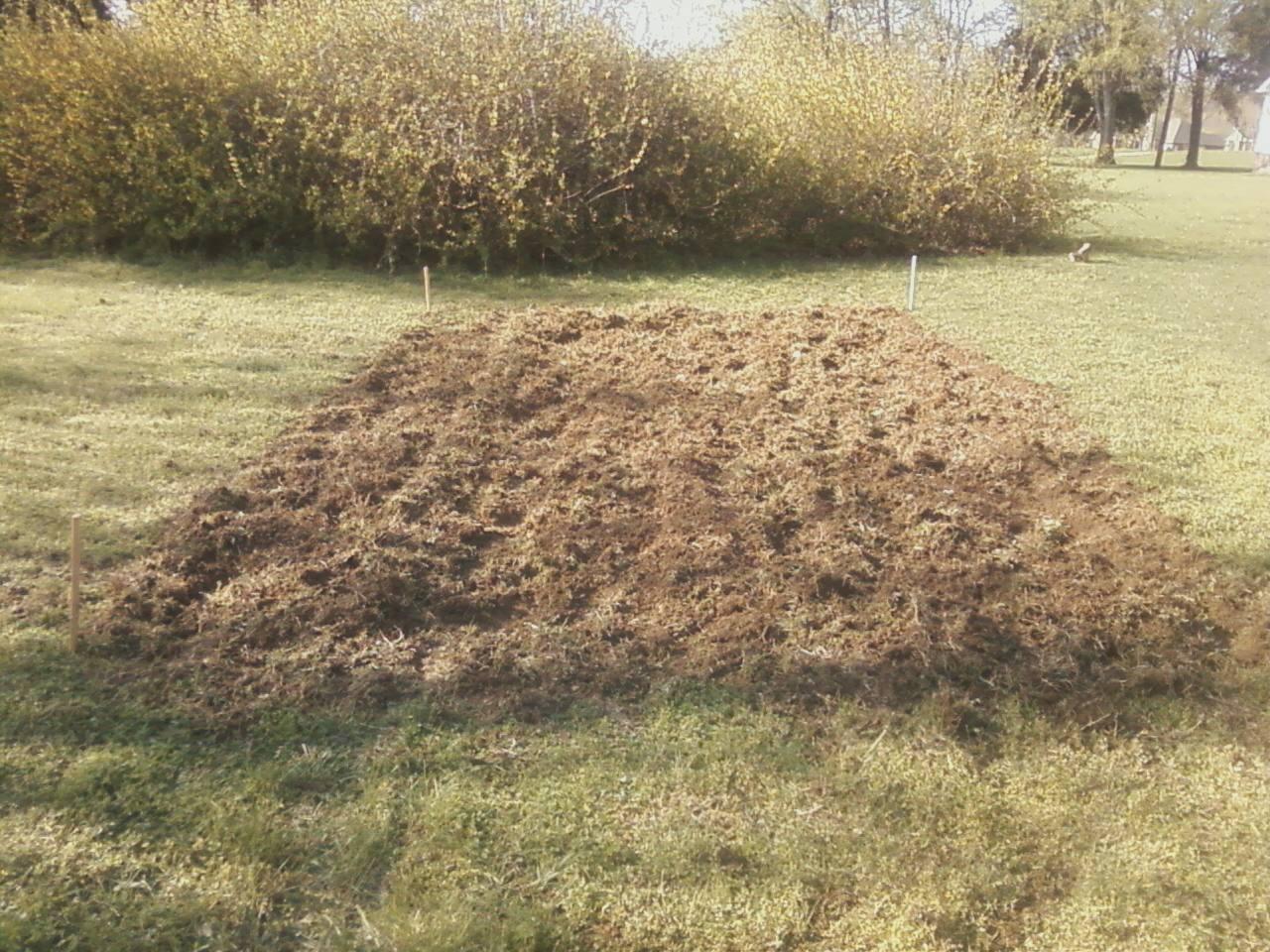 Newly plowed wannabe garden
