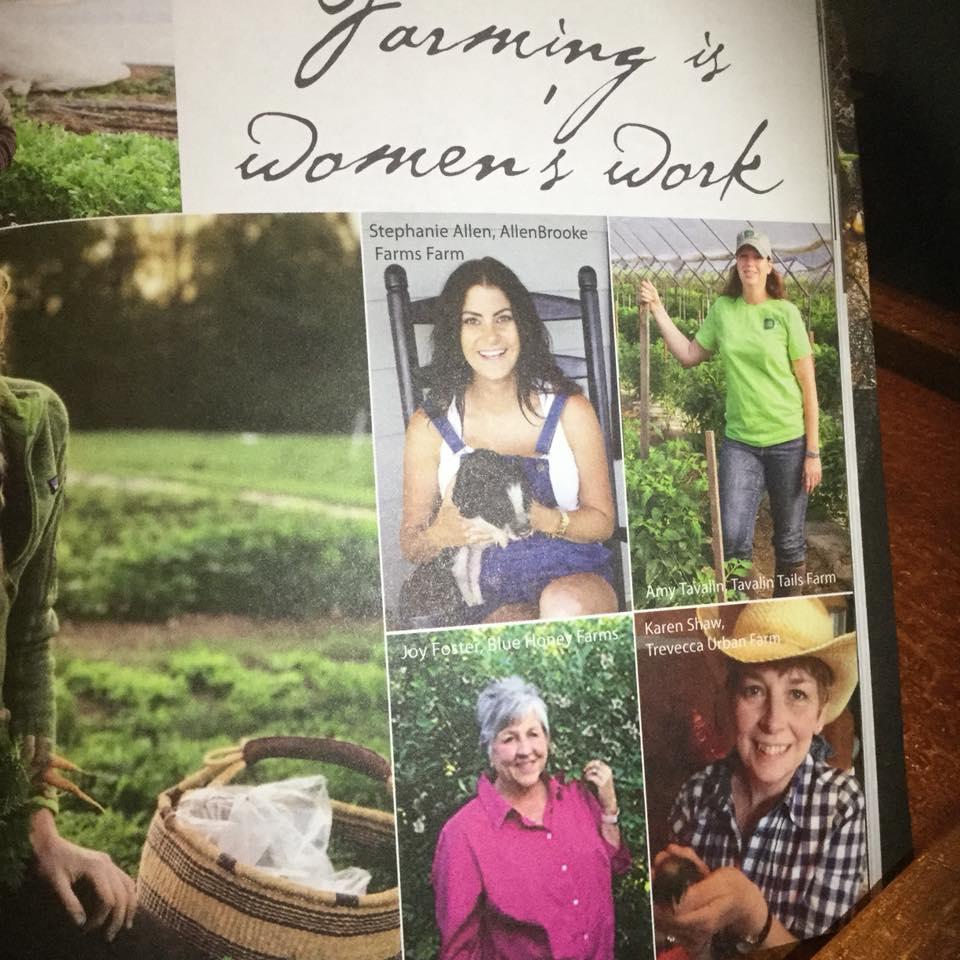 While listed as one of Middle Tennessee's women farmers in this magazine,                                                                      am I really a farmer if I don't do it all?