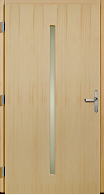 Innenseite - Das Holz auf der Innenseite gibt der Haustüre einen wohnlichen Charakter. Auch die Wärme- und Schalldämmung ist überdurchschnittlich gut. Die Türen sind in den 4 verschiedenen Holzarten Fichte, Lärche, Eiche und Meranti erhältlich.Oberfläche:Da das Holz komplett vor jeglichen Witterungseinflüssen geschützt ist, kann die Oberfläche wie ein Möbelstück behandelt werden. Neben den Standardbeschichtungen sind auch geölte Oberflächen möglich.