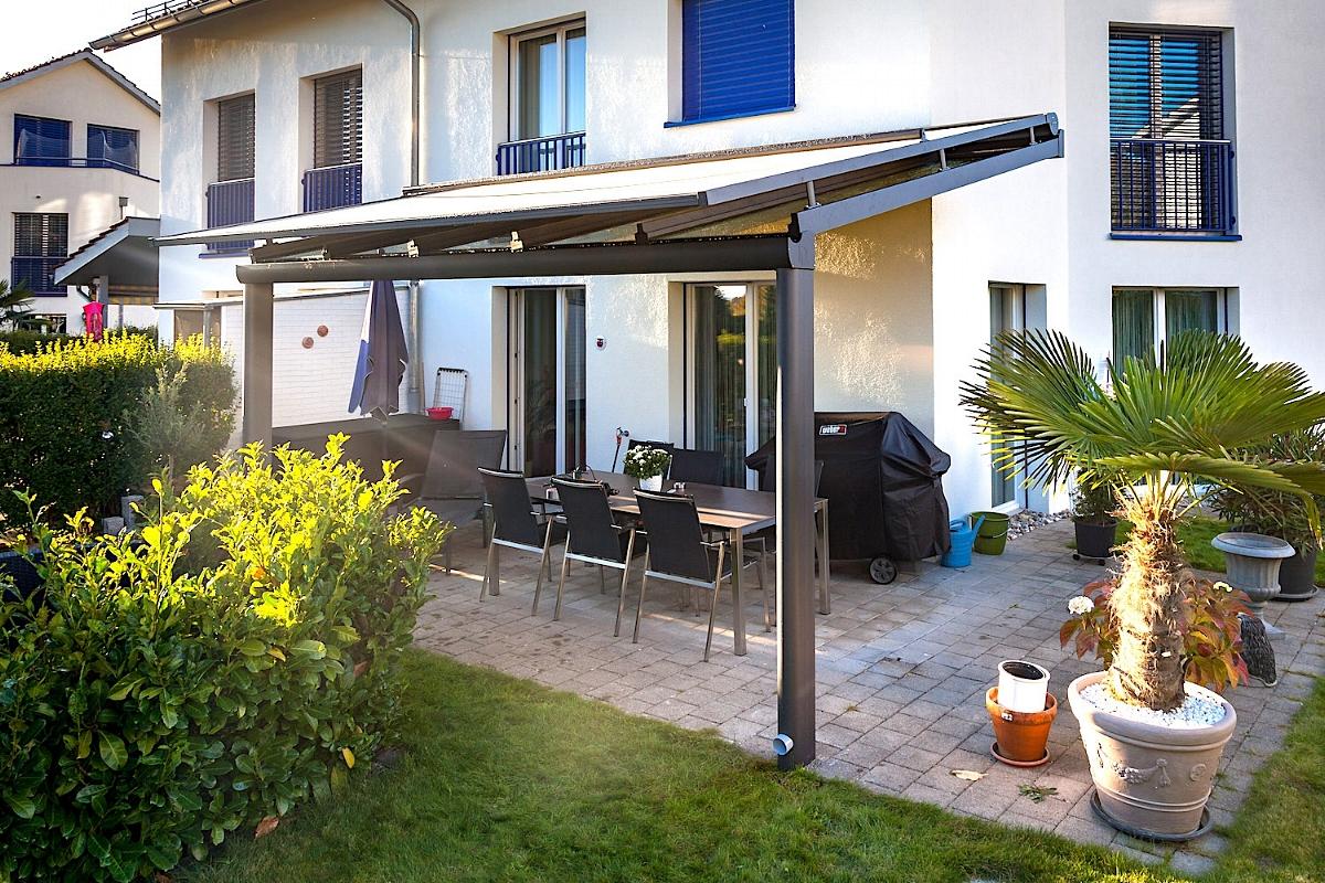 Terrassenüberdachung Sitzplatzüberdachung Nürensdorf Schweiz