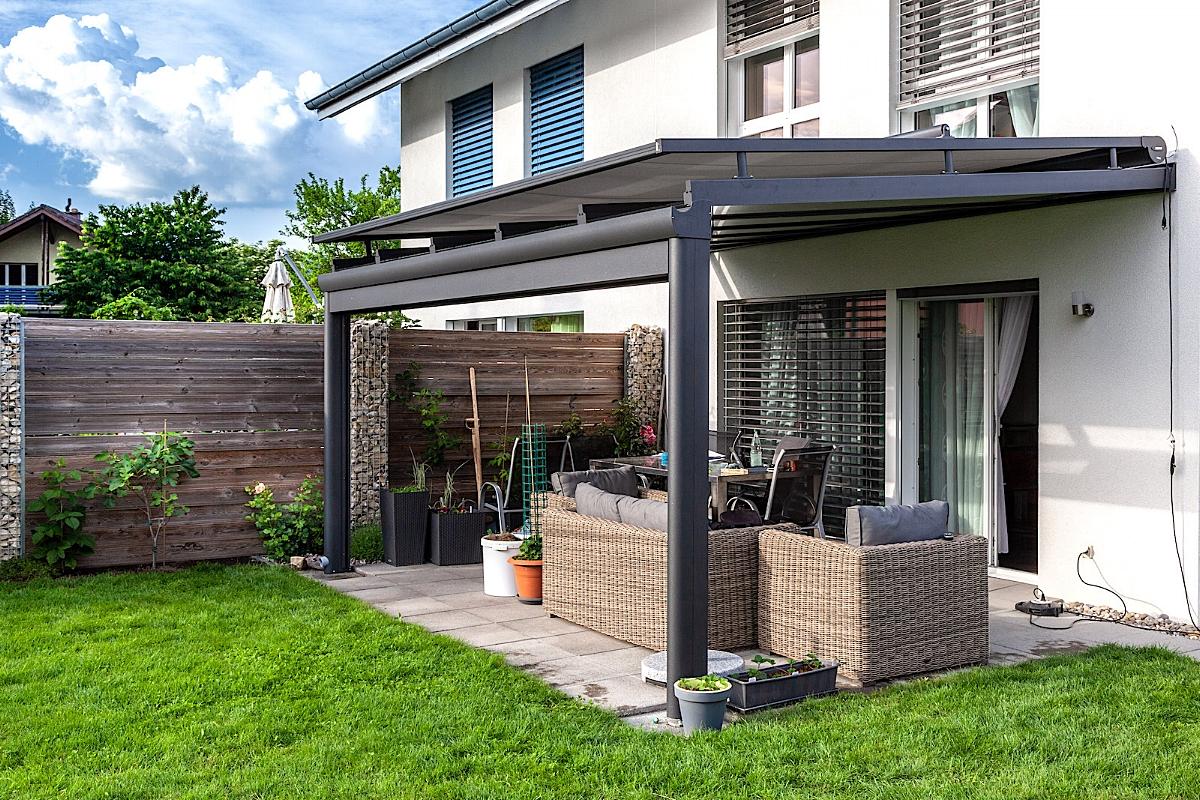 Terrassenüberdachung Sitzplatzüberdachung Aegerten Schweiz