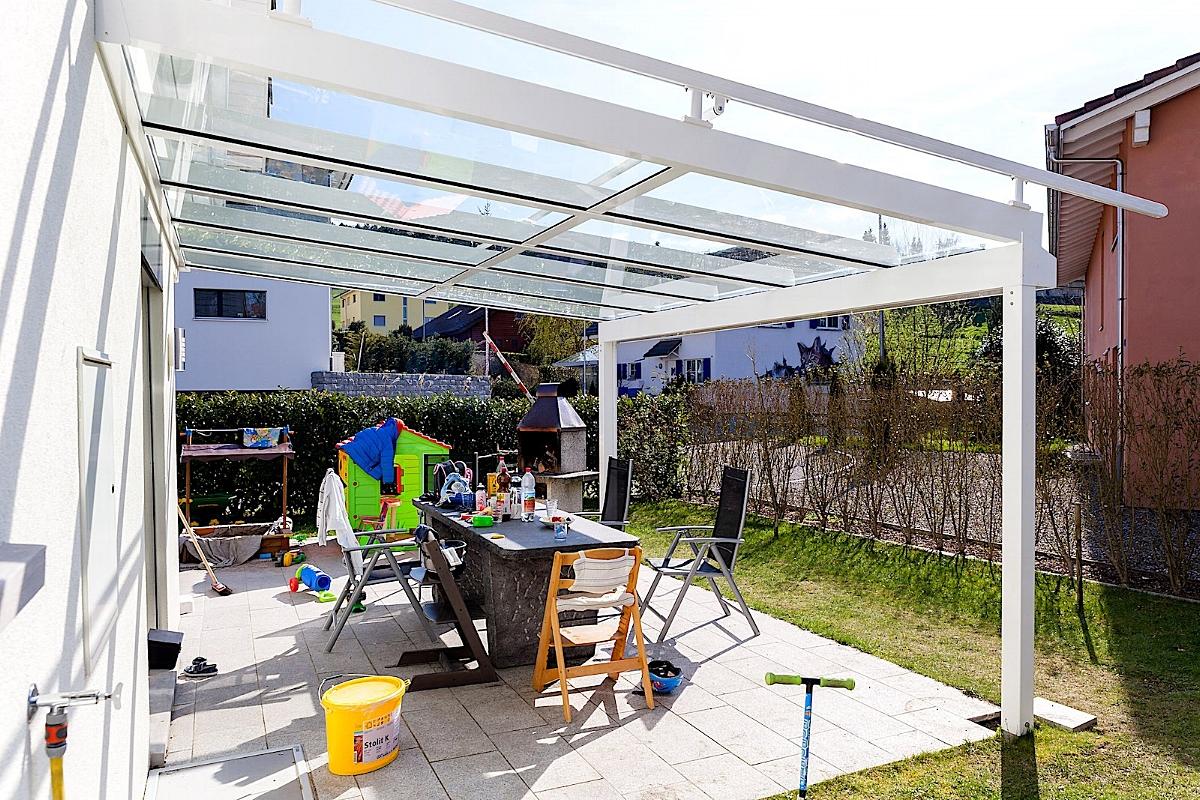 Terrassenüberdachung Sitzplatzüberdachung Dürrenäsch Schweiz