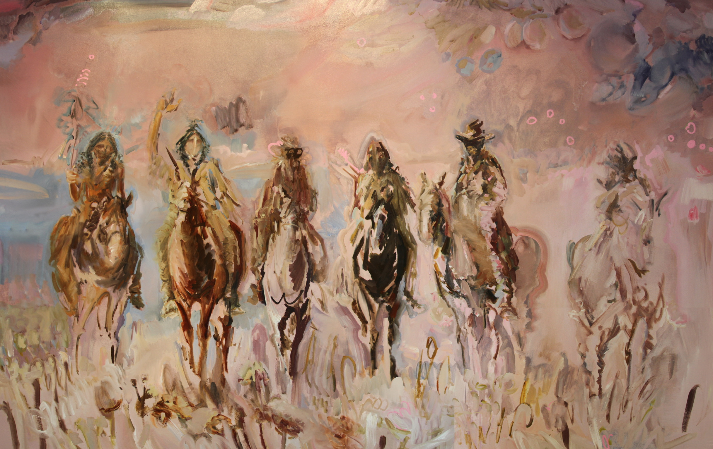 Cowboys for Karl May, 2017, Oil on Canvas, 114 X 68""
