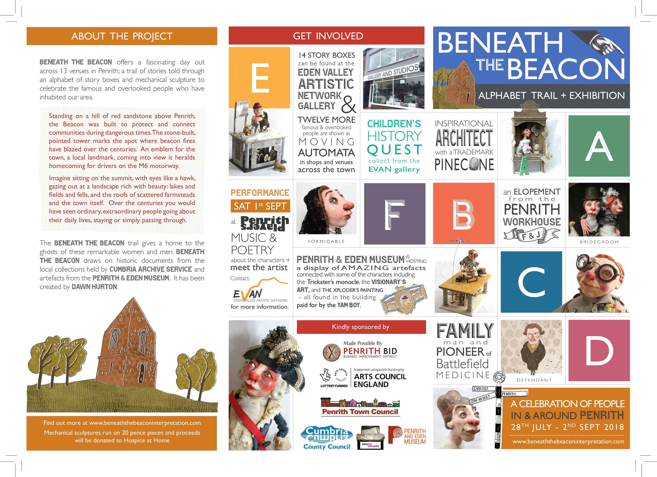 The Beneath the Beacon Trail Map is available from the EVAN Gallery on Corney Place, Penrith.