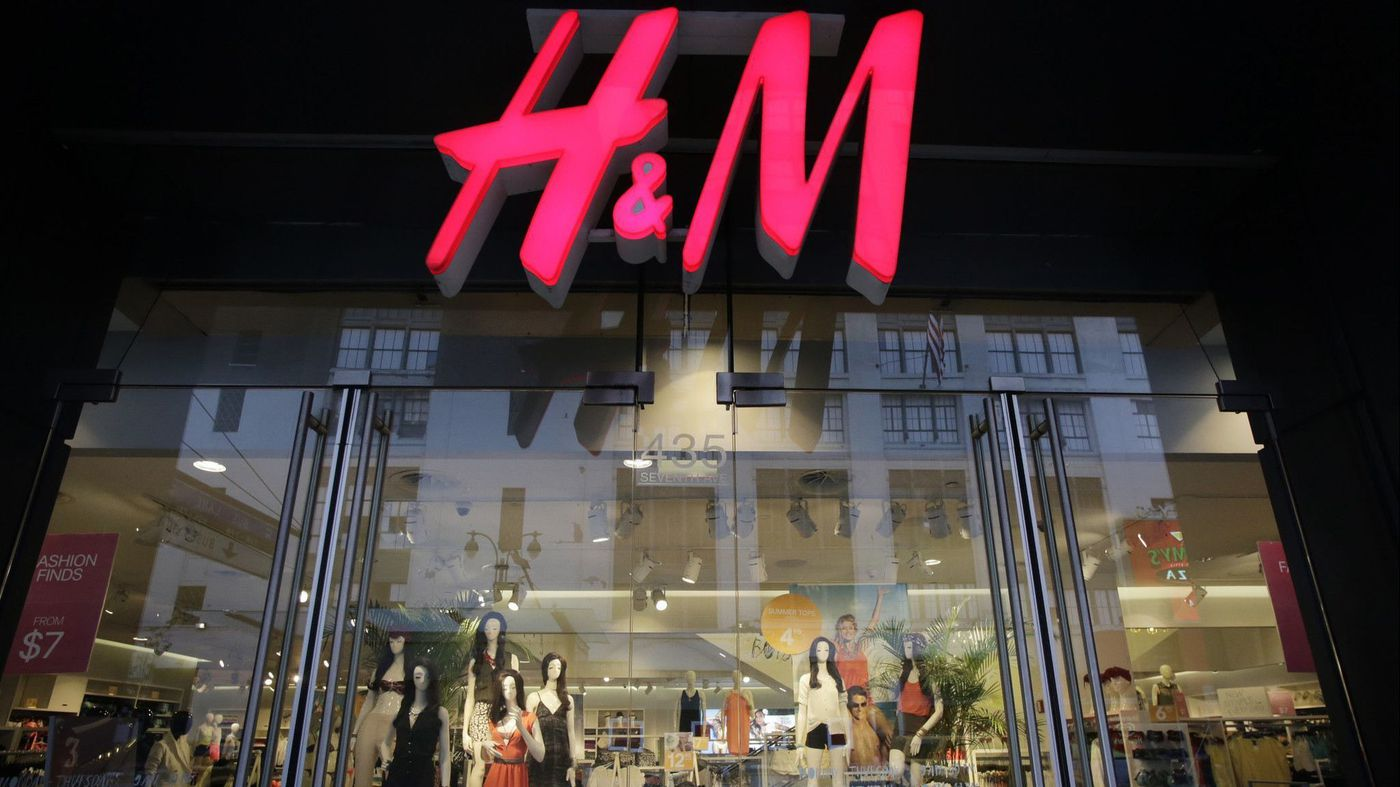 An H&M store in New York on May 31, 2013. (Mark Lennihan / Associated Press)  Photo from L.A. Times article.