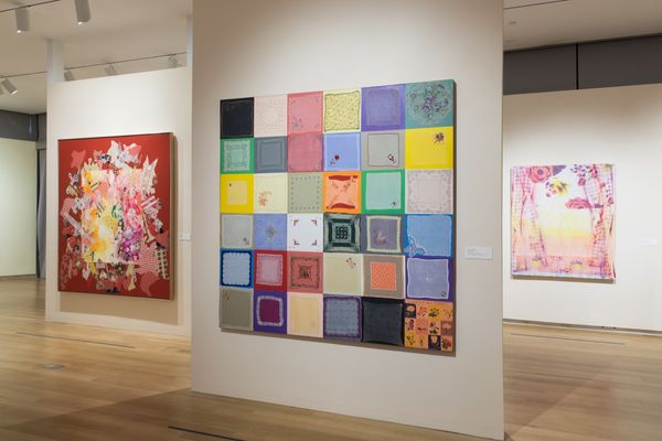 "Installation view of ""Surface/Depth: The Decorative after Miriam Schapiro."" Photo by Jenna Bascom. Courtesy of The Museum of Arts and Design. Taken from Artsy article listing."