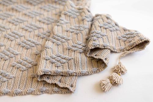 Bobble Diamond Shawl, knitting pattern