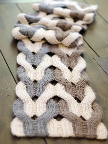Japanese Weave Wrap, knitting pattern