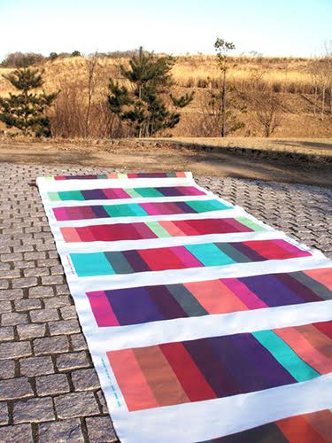 """Day to Day"", 2010, Cotton with reactive dye, W54inch x 10yards"