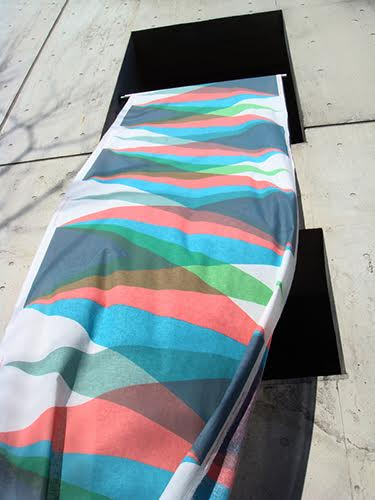 """Past Present Future"", 2010, Cotton with reactive dye, W54inch x 10yards"