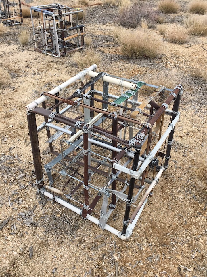 Cathy Allen, installation in progress