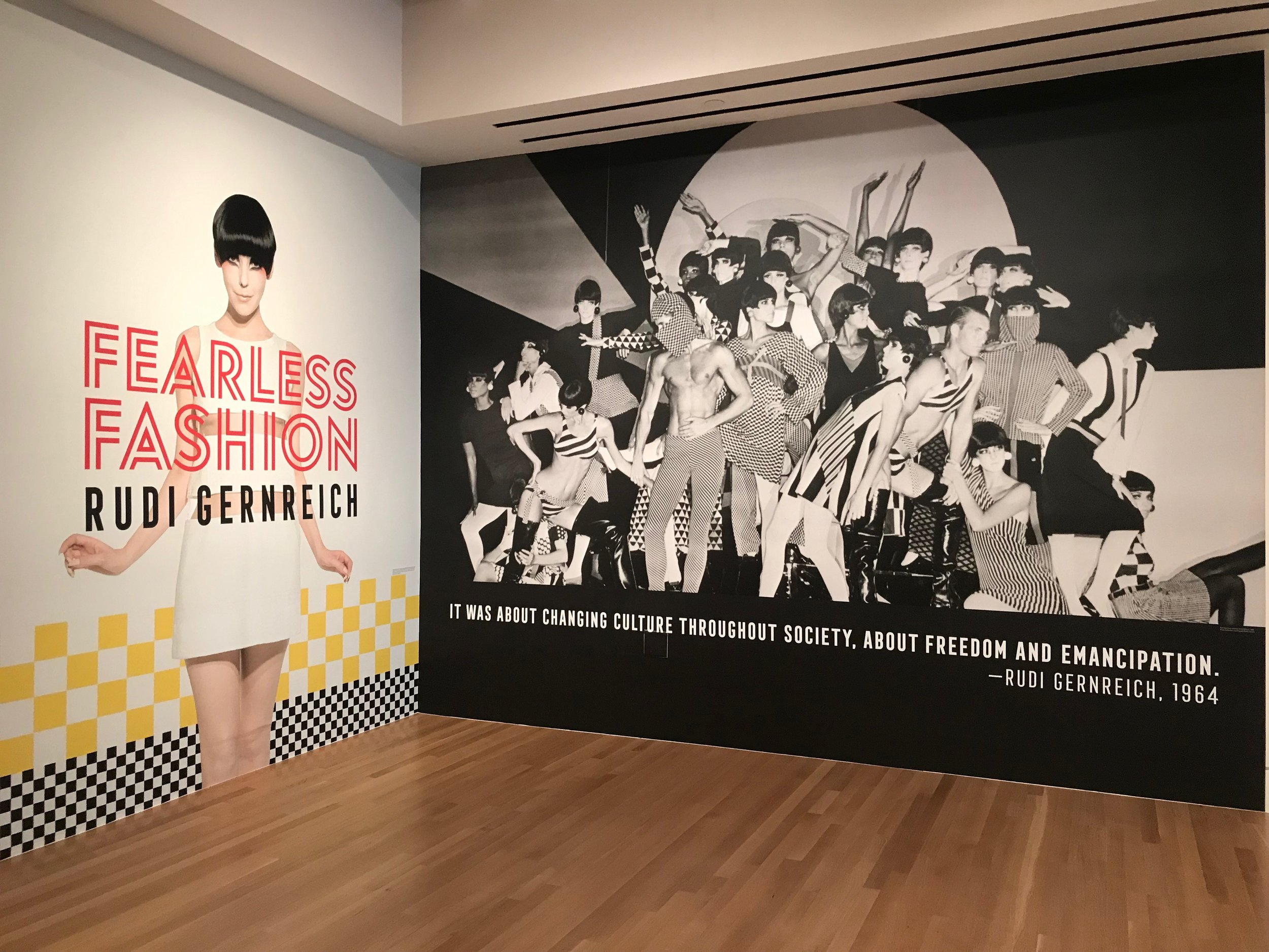 Photo by Jamia Weir of the Fearless Fashion: Rudi Gernreich at the Skirball Cultural Center.