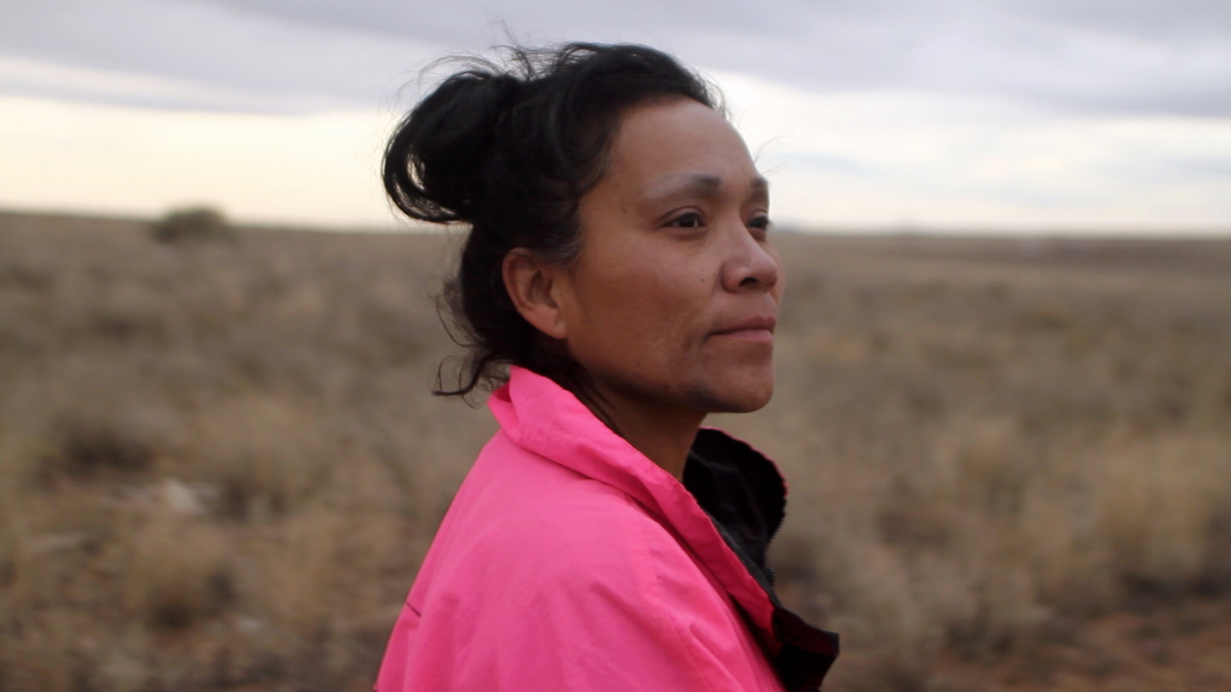VANESSA  grew up herding sheep on the Navajo Nation and joined the Navy to build a better future. Alongside her boyfriend and their son, she combs the desert for scrap metal to recycle for cash.