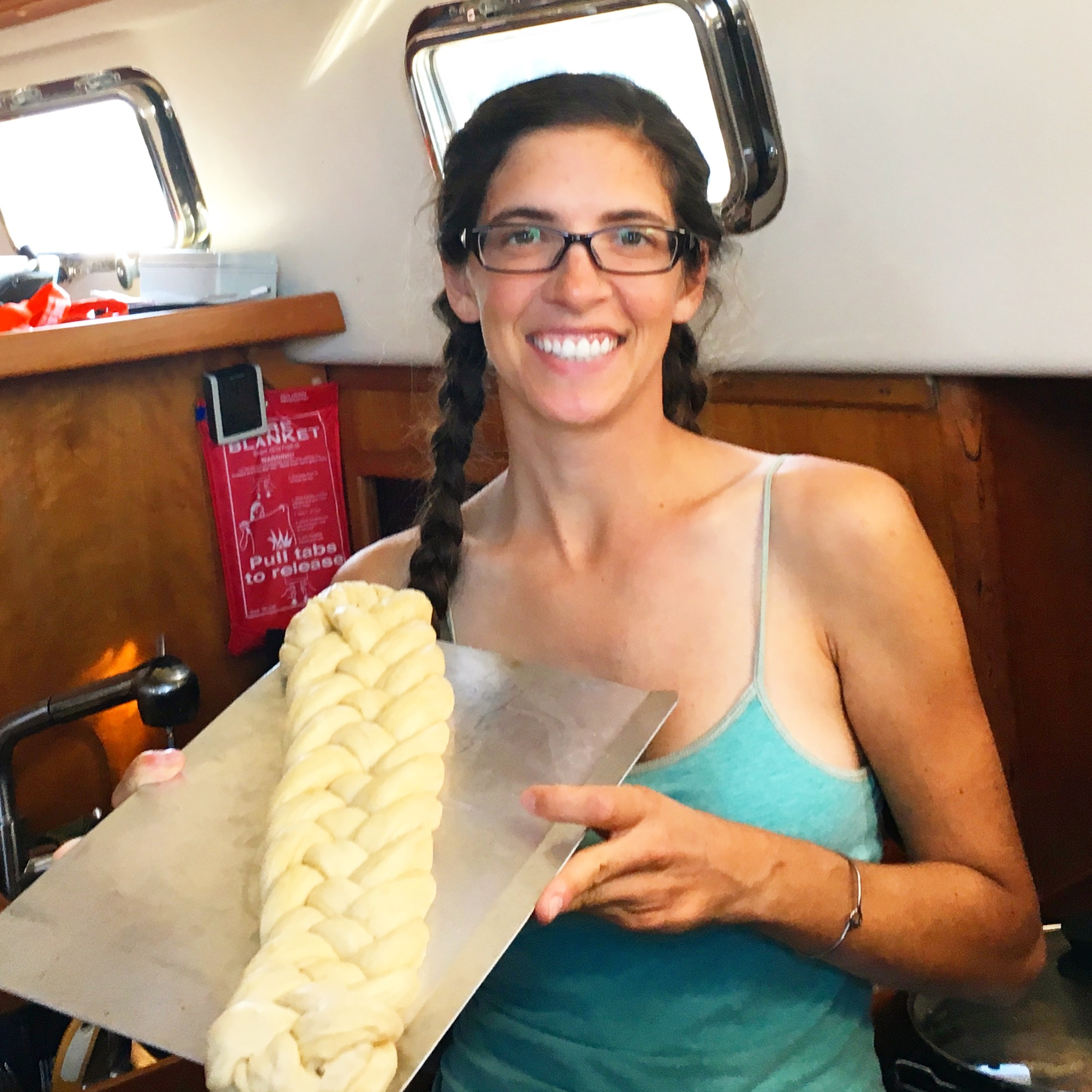 An over-proved, 6 strand, braided challah that inspired Sea Yawl