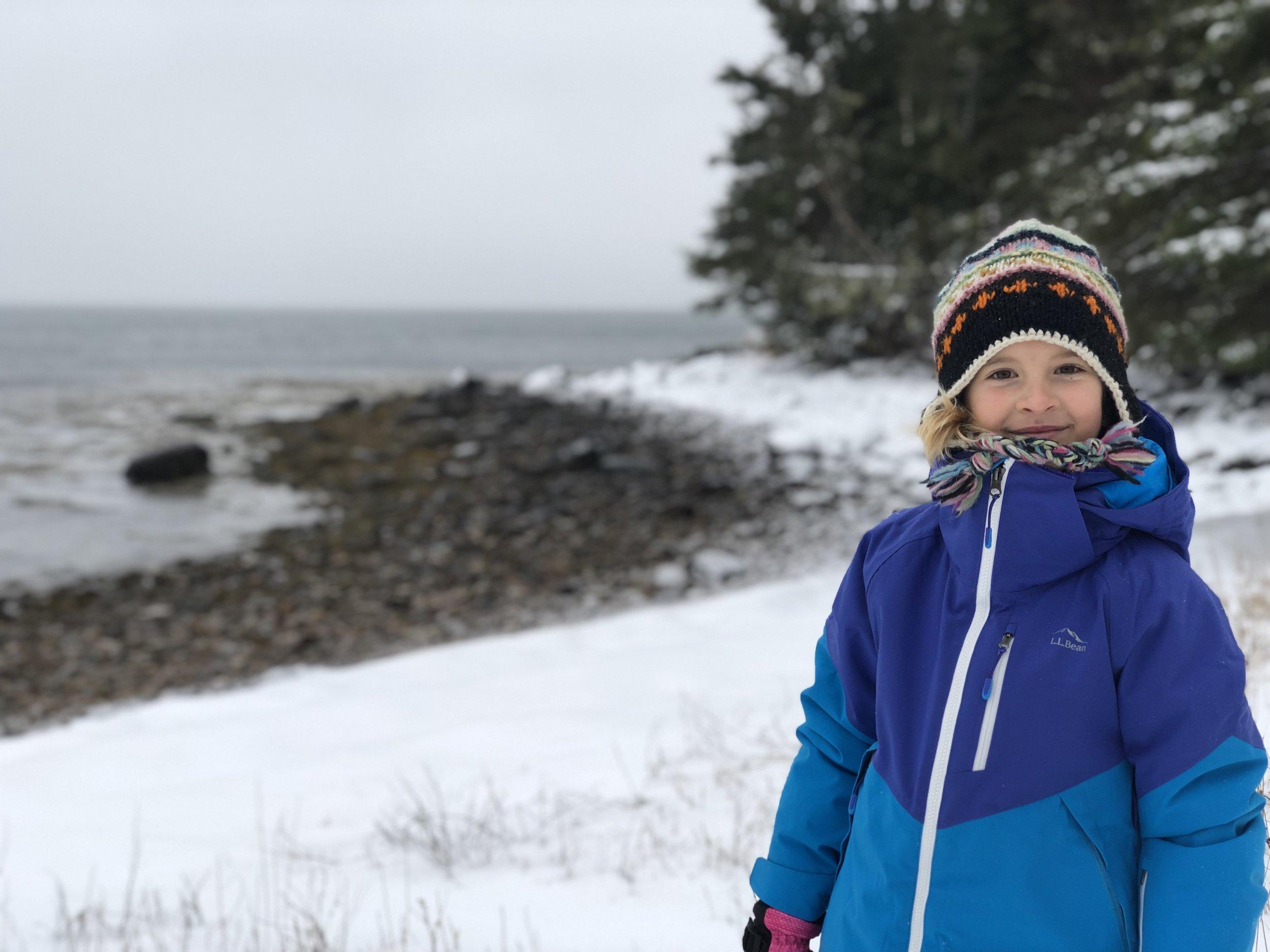 Rev enjoys winter at the beach!