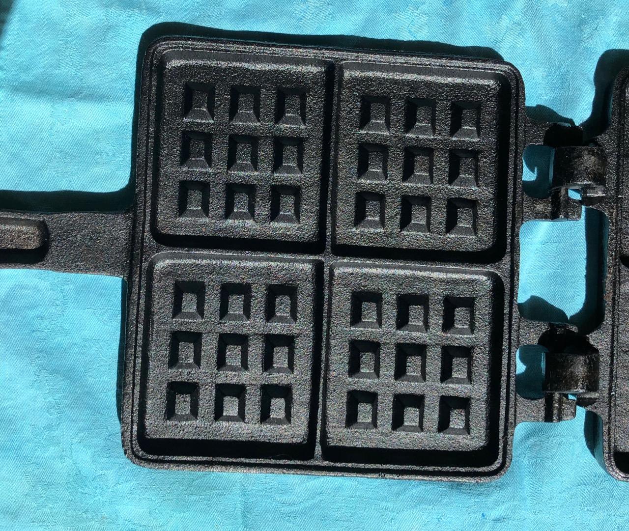 Pre-seasoned waffle maker