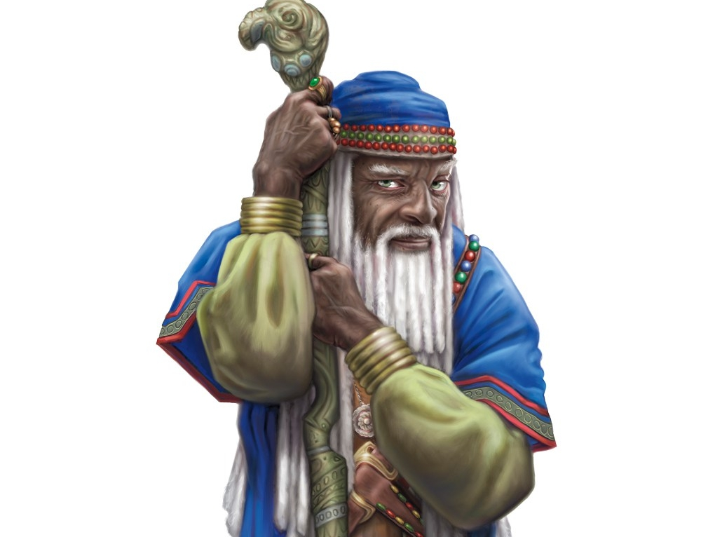 You can get into character by memorizing spells just like the Wizard does! (C) WOTC