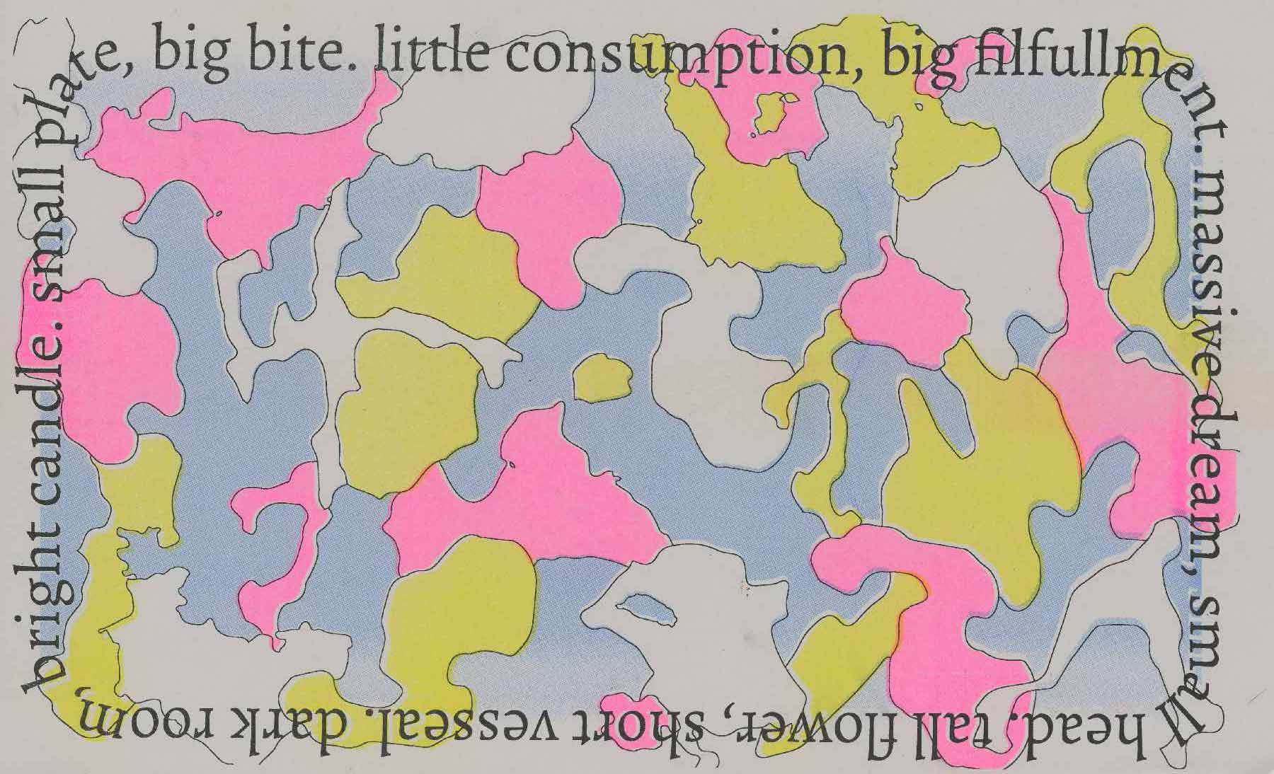 COMPLEMENT POP QUIZ (functions as wrapping paper),  risograph print