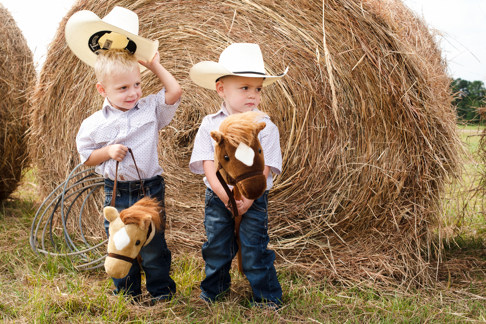Twin Boy Birthday Session: Montgomery, TX