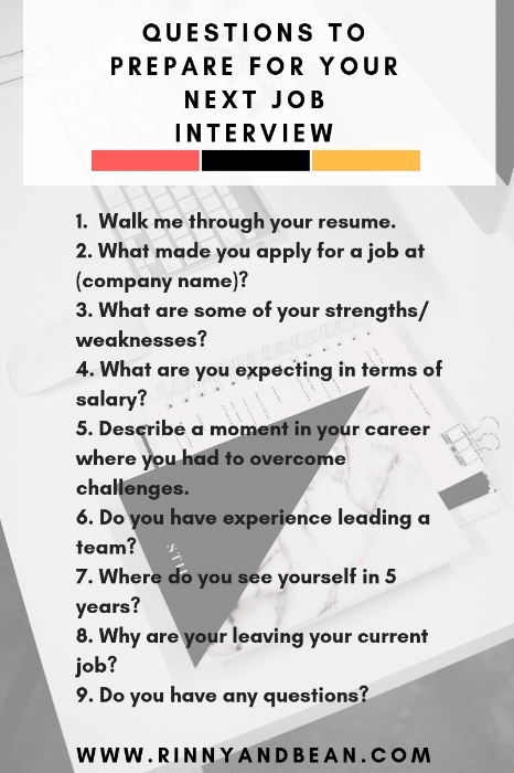 Questions to Prepare for Your Next Job Interview | Career Tips | Interview Questions
