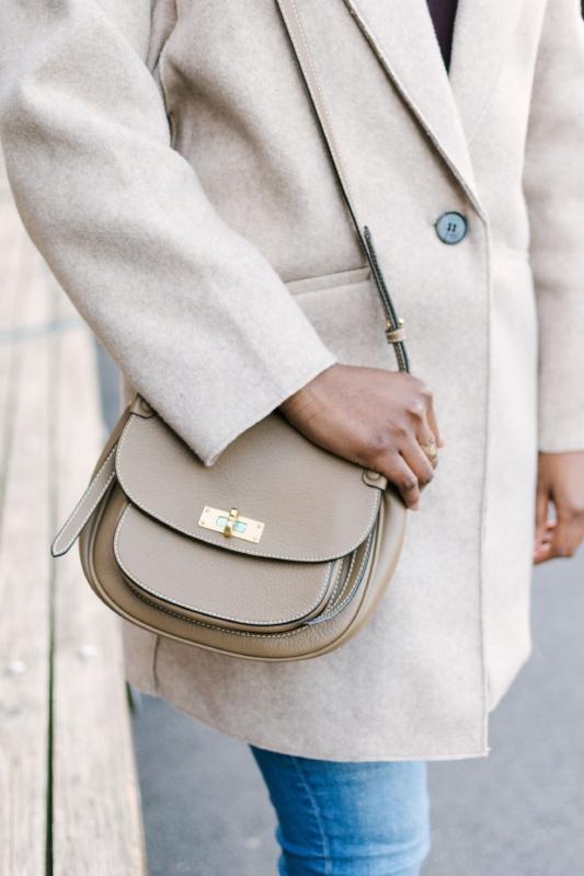 Cozy Fall Fashion Inspiration   Wool Coat   Crossbody Purse   Outfit Inspiration