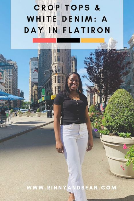 Crop Tops and White Denim: A Day in Flatiron | Fashion Outfits |  New York Summer Outfits | Flatiron Building | Summer Outfits