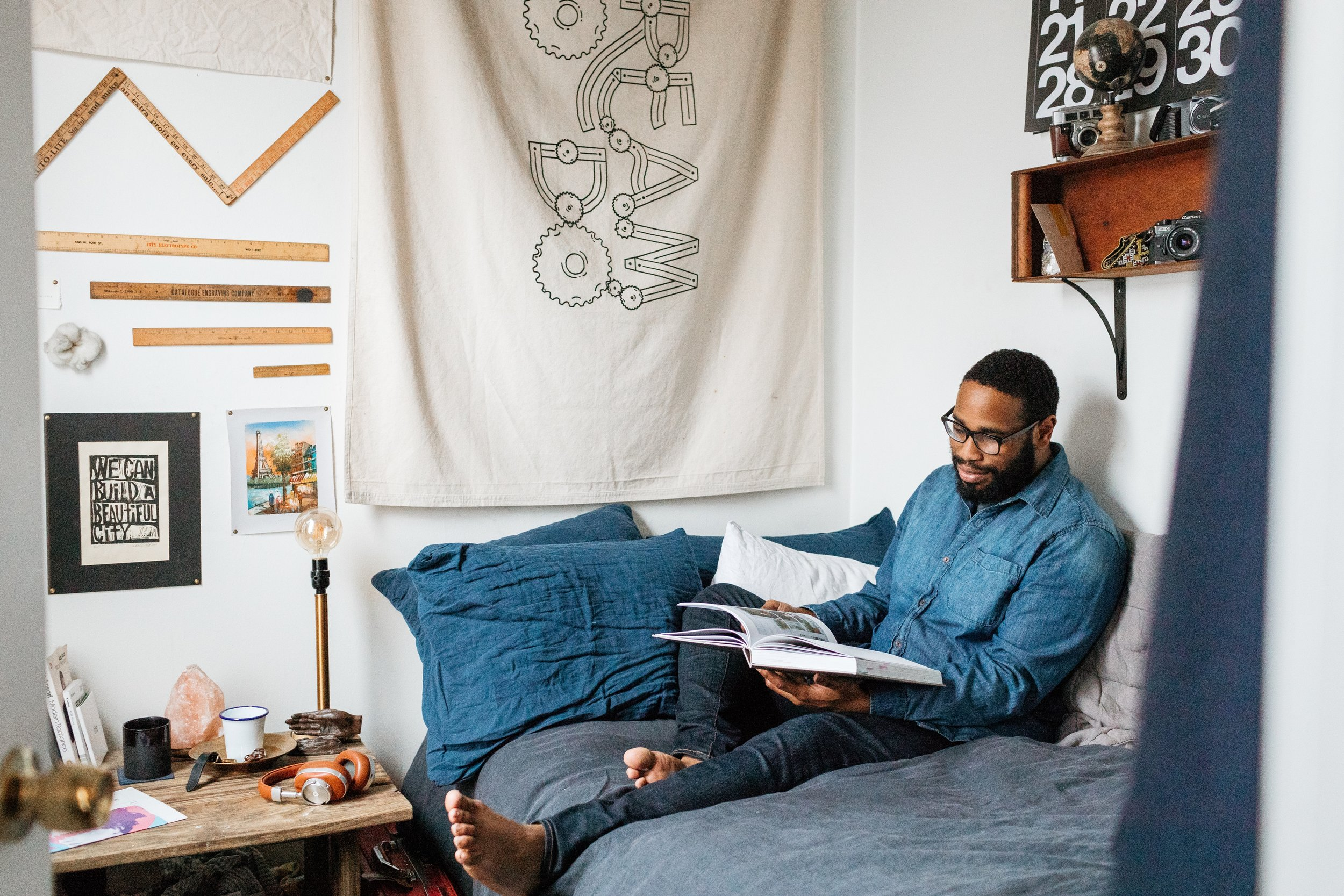 A cozy Saturday morning as photographed by  Matt Scheffer.