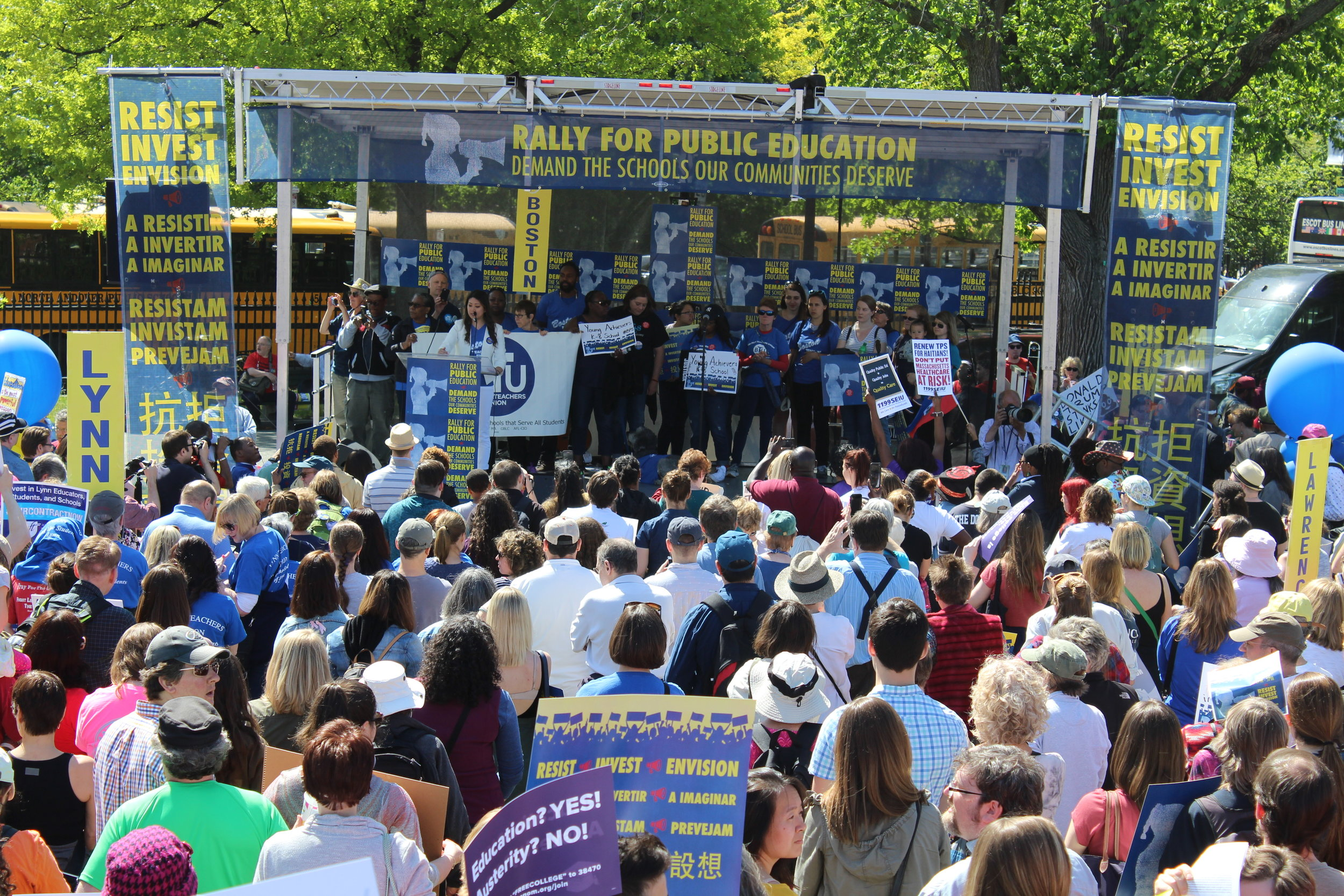 Thousands of public education supporters gathered for the Rally for Public Education in 2017.