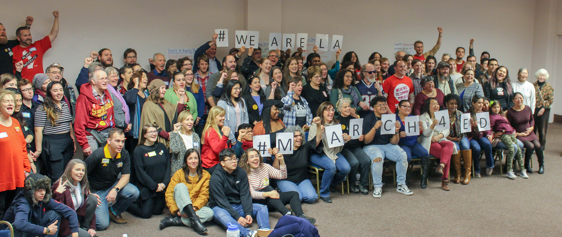 MEJA Winter Assembly stands in solidarity with the students, parents, and teachers of Los Angeles, CA. They gathered 50,000 people to march for public education on December 15th.