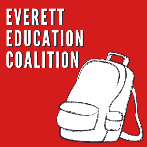 Everett Education Coalition   The Everett Education Coalition is a group of Everett community members, students, parents, and educators working together to improve the Everett Public Schools.