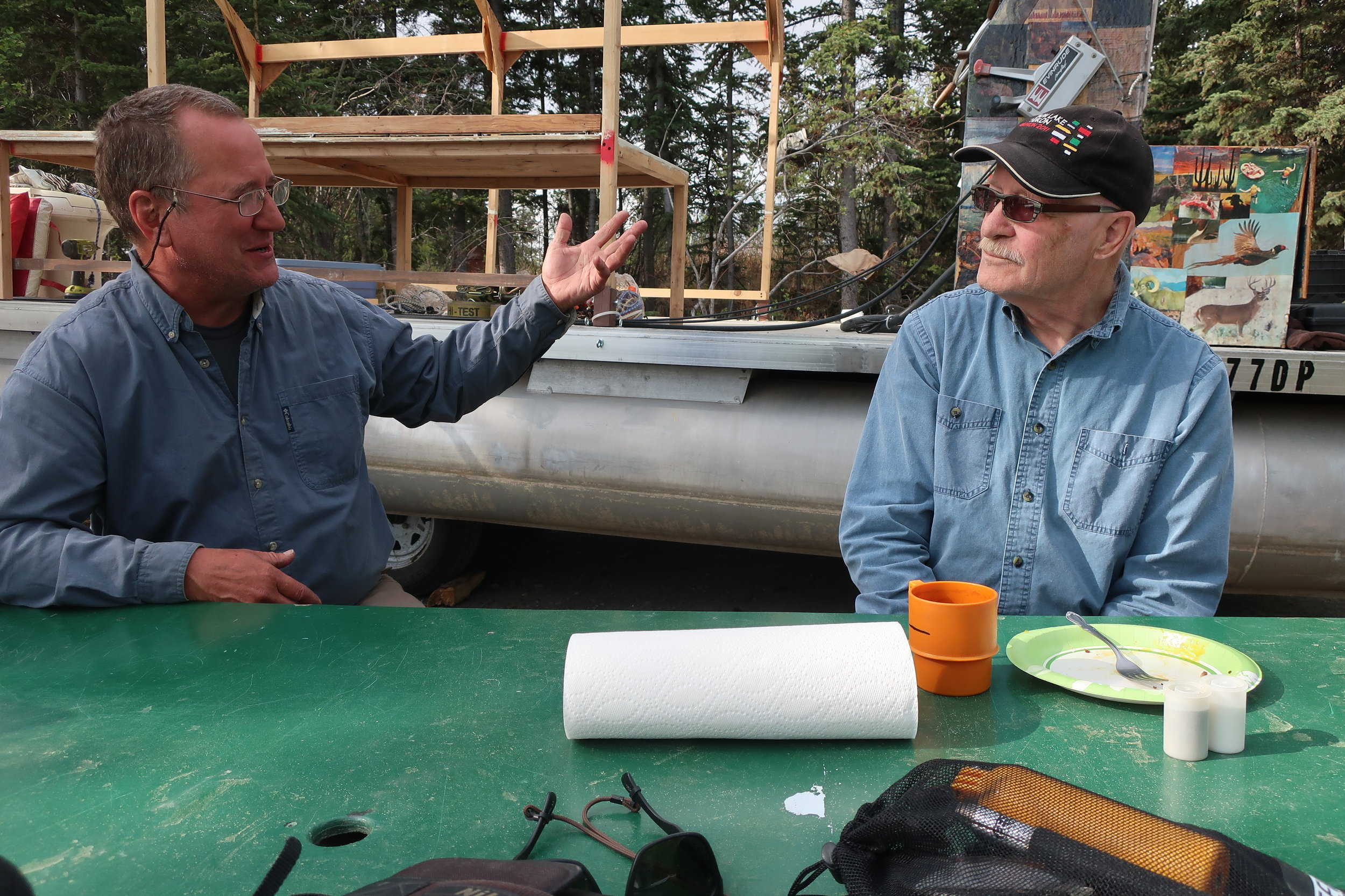 Jeff with Paul Tubb who joined us for breakfast