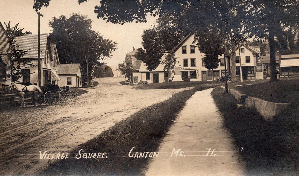 THEN: Canton Village Square       Circa 1910?