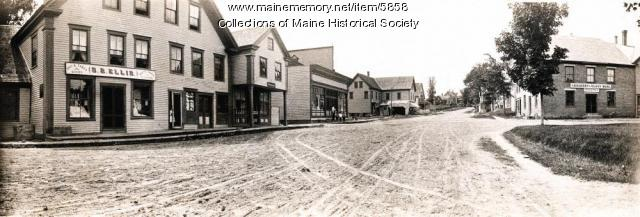 THEN: Canton Village Square, Circa 1900       Courtesy of the Maine Memory Network , Maine Historical Society