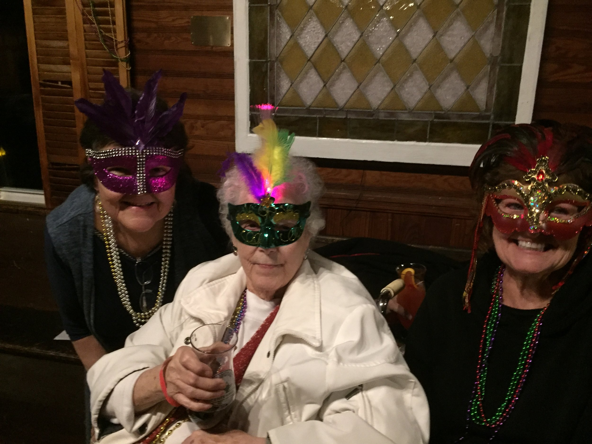 Guest came in Mardi Gras costume like these mystery guests!