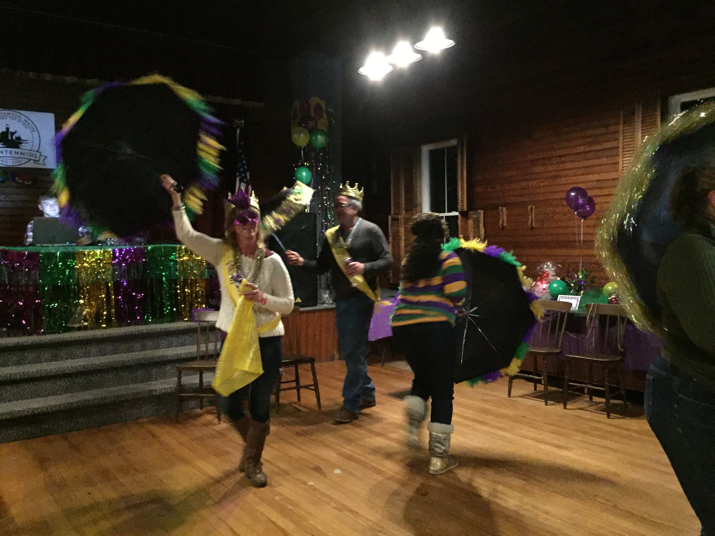 The evening culminated in a traditional Second Line Dance,