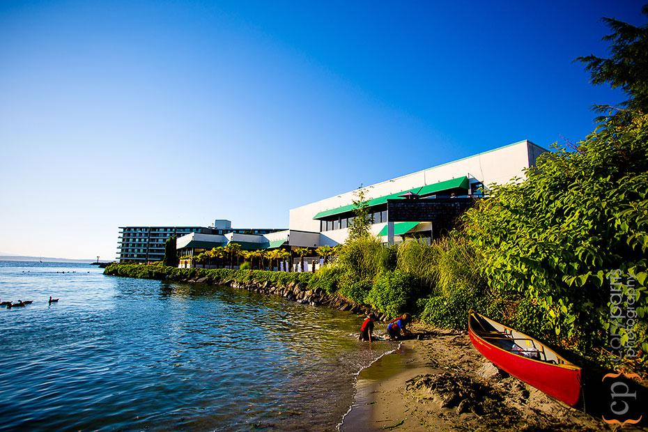 exterior of shilshole bay beach club wedding venue