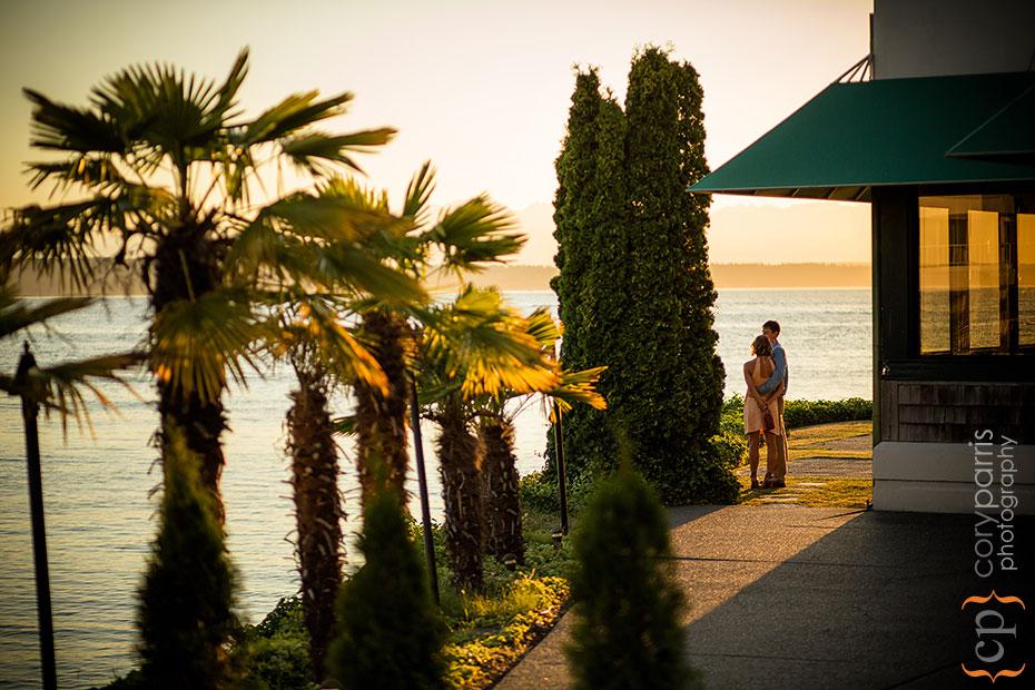 couple enjoying the view at shilshole bay beach club