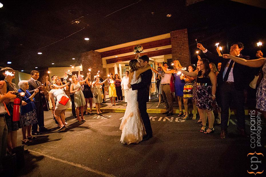 wedding couple sparkler escape