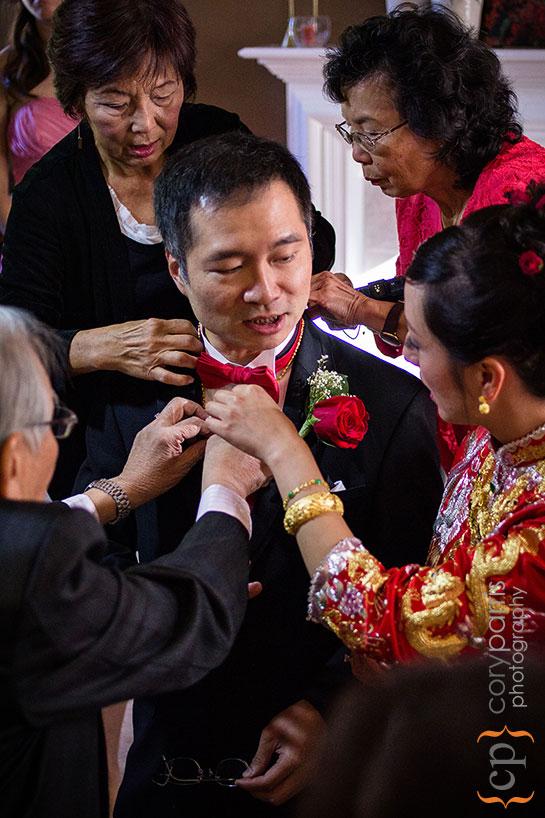 groom during tea ceremony