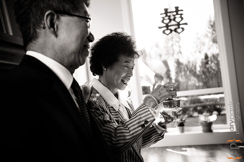 mother of the groom during tea ceremony
