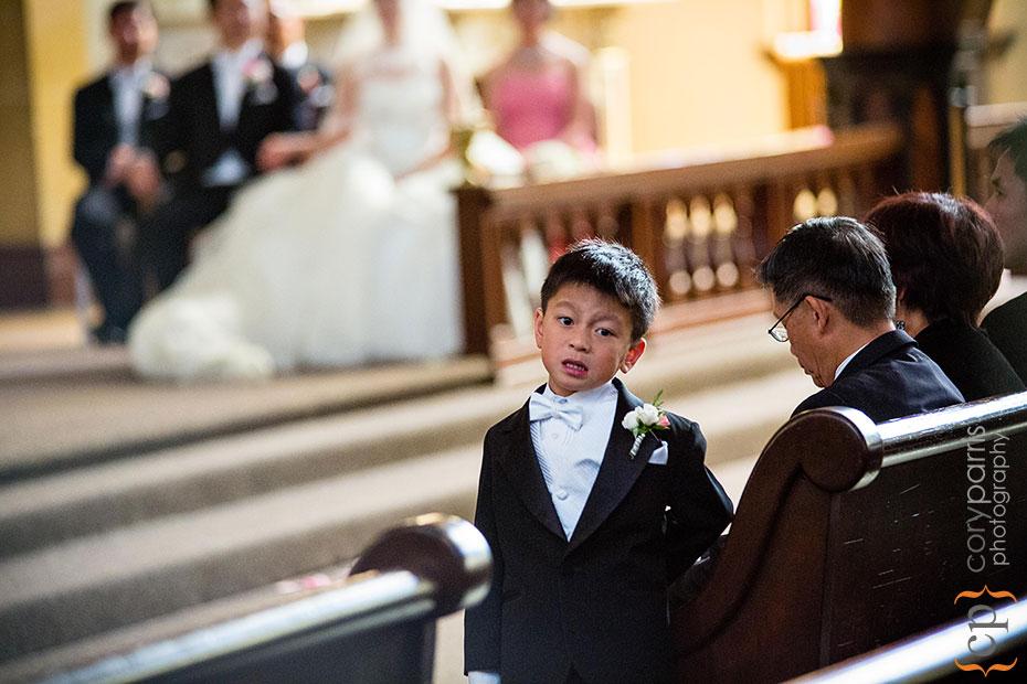 Ringbearer during the wedding