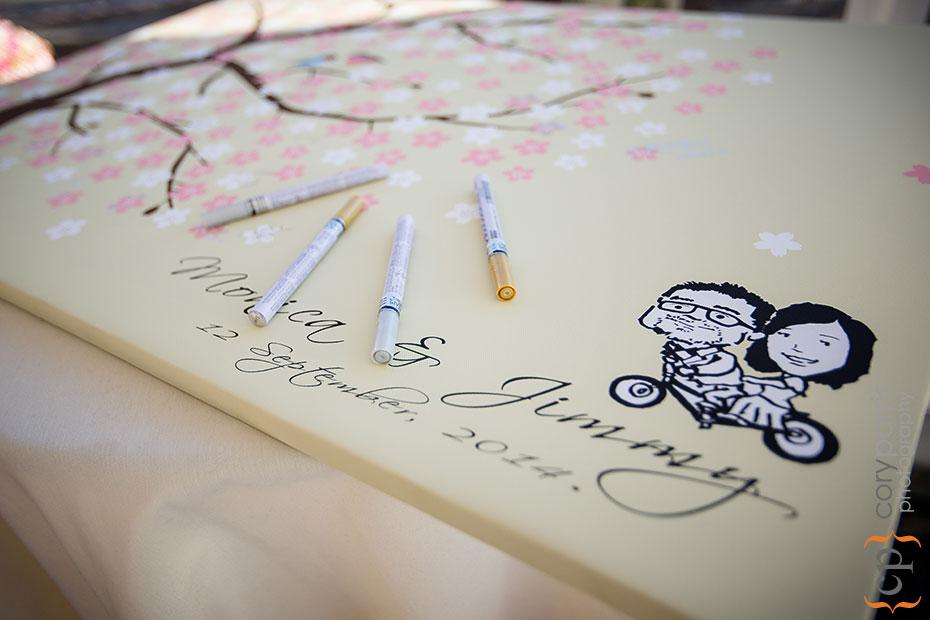 wedding guest book art