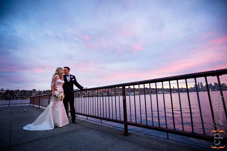 sunset portrait in Seattle