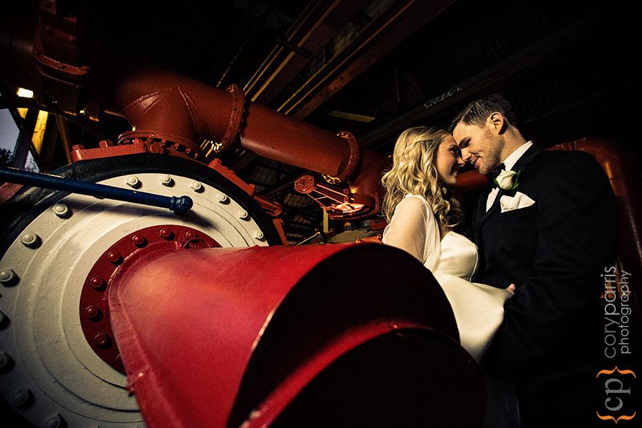 couple portrait at Gas Works Park