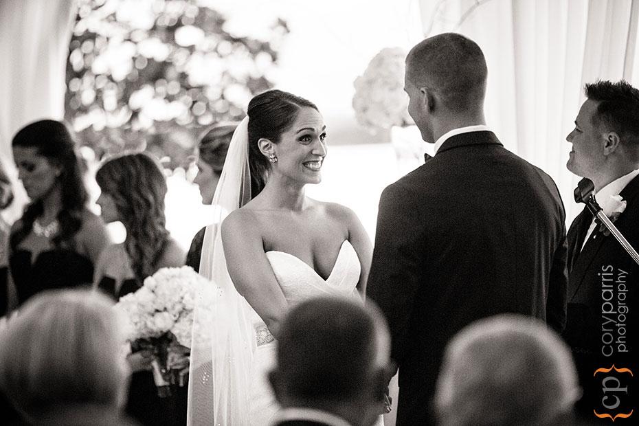 bride smiling during woodmark hotel wedding