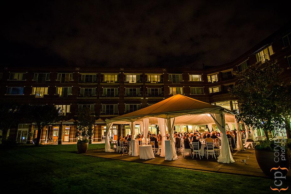 Woodmark Hotel at night