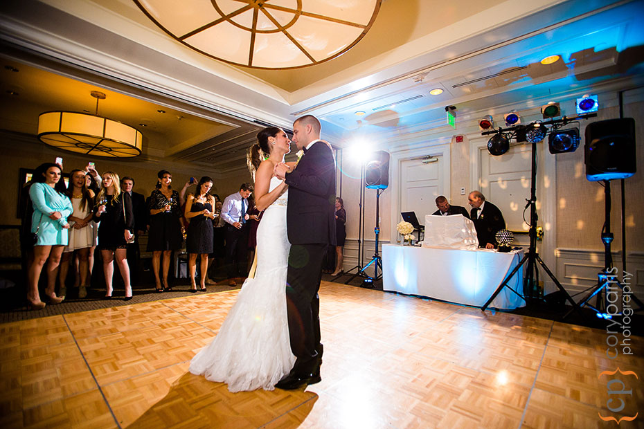first dance at woodmark hotel