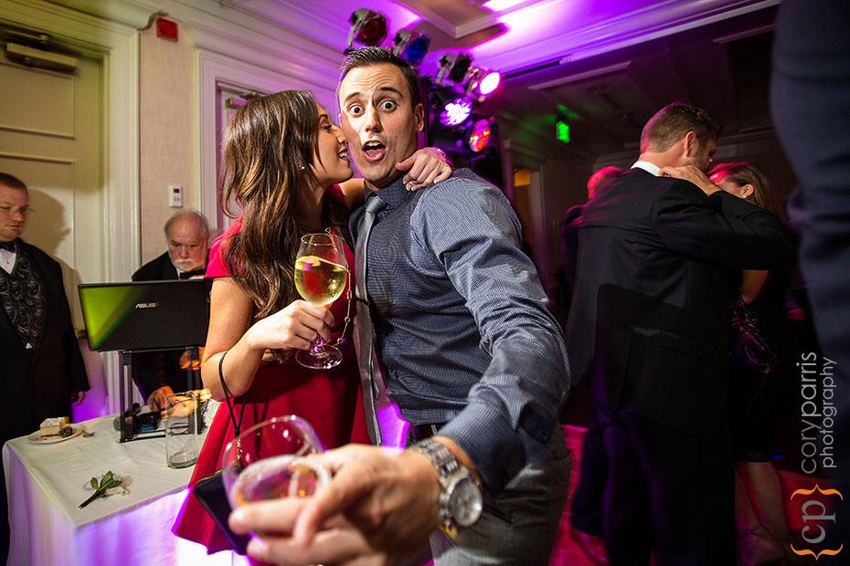 Guests dancing at Woodmark Hotel wedding